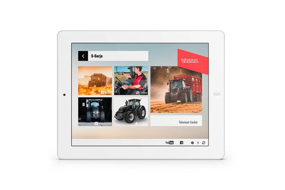 Valtralle räätälöity applikaatio iPadin näytöllä