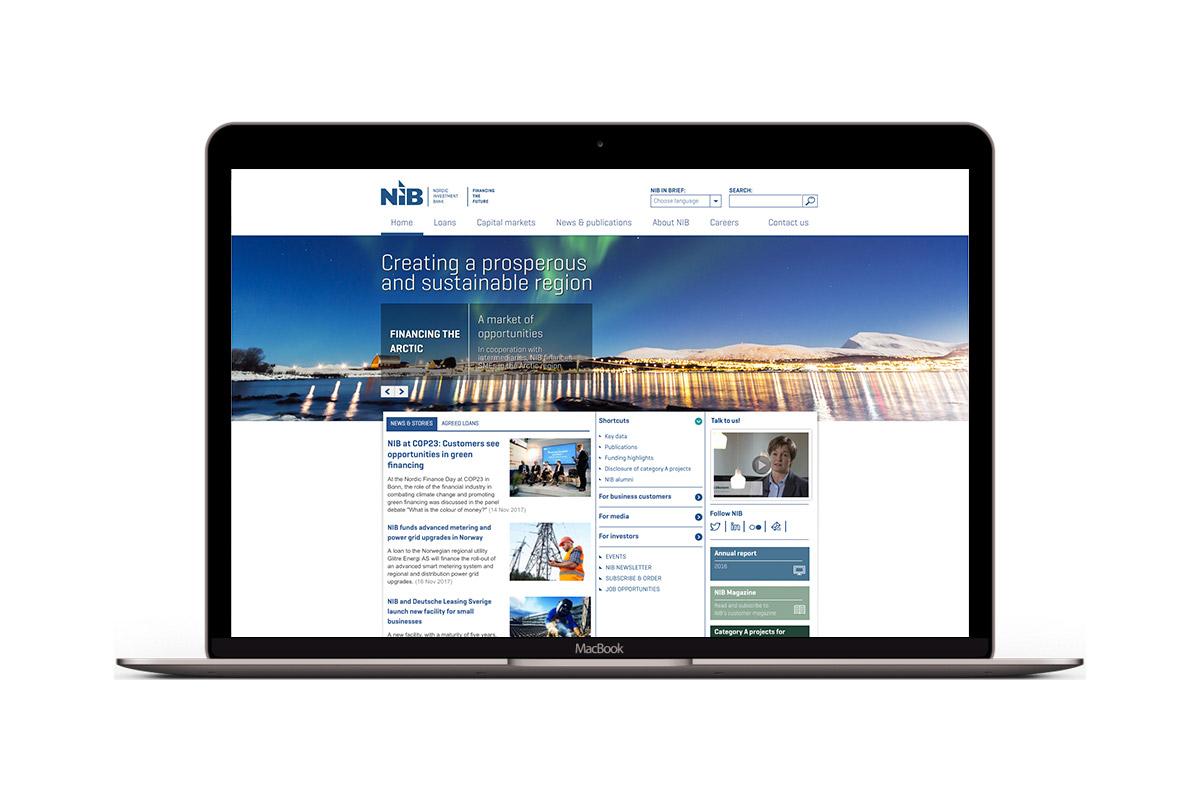 NIB:n verkkopalvelu kannettavan näytöllä