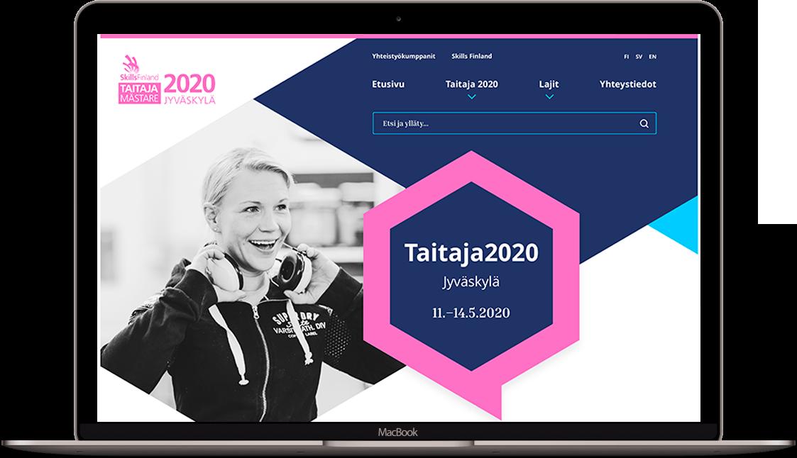 Skills Finlandin sivusto kannettavan näytöllä